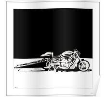 Harley-Davidson Drag Bike Poster
