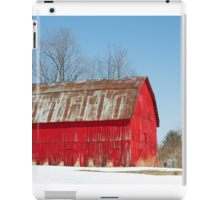 Red Barn and Snow iPad Case/Skin