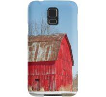 Red Barn and Snow Samsung Galaxy Case/Skin
