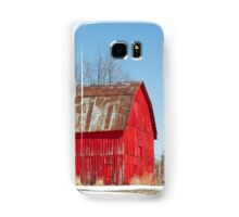 Red Barn and Snow Samsung Galaxy Case/Skin