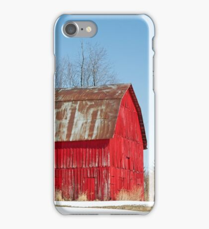 Red Barn and Snow iPhone Case/Skin