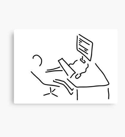 information scientist nerd computer Canvas Print