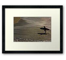 Le Conquet - Surf aux Blancs Sablons Framed Print
