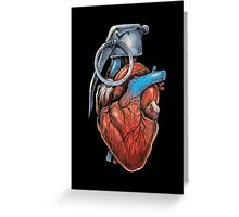 Heart Grenade Greeting Card