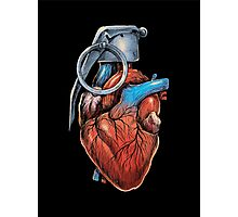 Heart Grenade Photographic Print