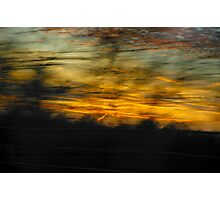 Movin' and Groovin' to the Sun Settin' Photographic Print