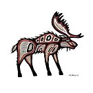 traditional moose by Mangeshig