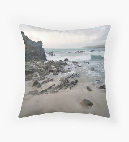 out in the storm Throw Pillow