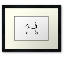 cat as a silhouette Framed Print