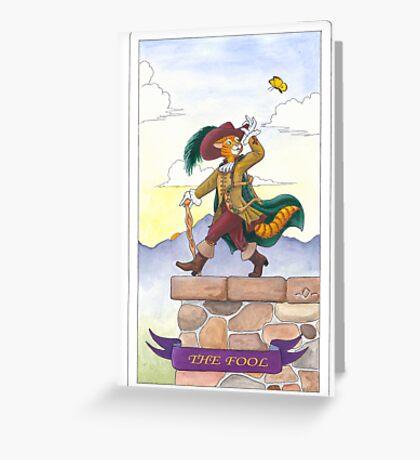 """Tarot - """"The Fool"""" Greeting Card"""
