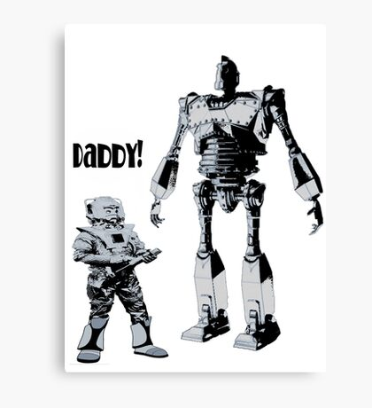 Robot Daddy Canvas Print