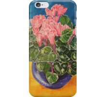 Cyclamen Sunset floral still life iPhone Case/Skin
