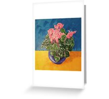 Cyclamen Sunset floral still life Greeting Card