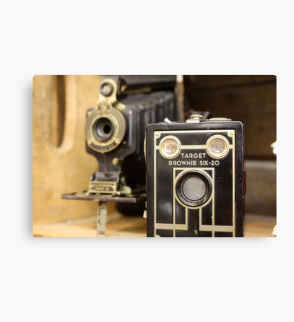 Old time cameras Canvas Print
