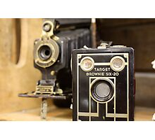 Old time cameras Photographic Print