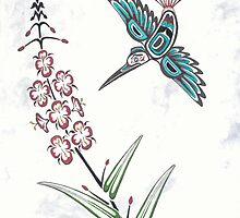 Pacific Northwest Coast stylized Hummingbird by Julie Thompson