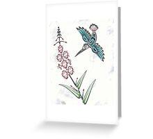 Pacific Northwest Coast stylized Hummingbird Greeting Card