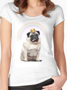 Princess Pug  Women's Fitted Scoop T-Shirt