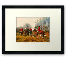 Horse And Hound Framed Print
