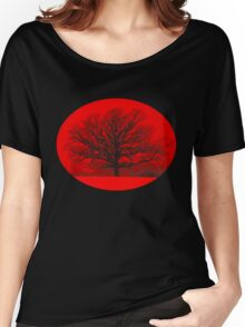 Red Snow Tree T Women's Relaxed Fit T-Shirt