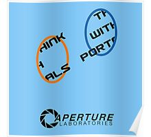 Think with portals Poster