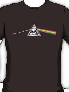 dark side of the moon illuminati T-Shirt