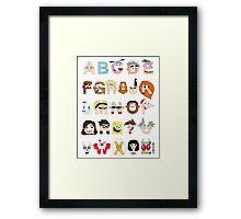 Child of the 00s Alphabet Framed Print