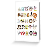 Child of the 00s Alphabet Greeting Card