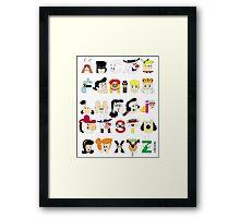 Child of the 60s Alphabet Framed Print