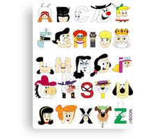 Child of the 60s Alphabet Canvas Print