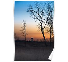 Sunset at the Tower Preserve Poster