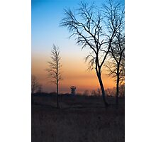 Sunset at the Tower Preserve Photographic Print