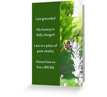 Healing Affirmations Greeting Card