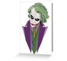 Geometric Joker Transparent Greeting Card