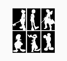 Kingdom Hearts - Character Roster (Black) Unisex T-Shirt