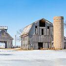 Snowy Farm Scene by Kenneth Keifer