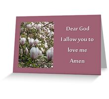 Prayer for Gods love Greeting Card