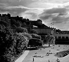 Edinburgh Castle & Princes Street Gardens II by Chris Clark