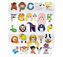 Child of the 80s Alphabet Poster