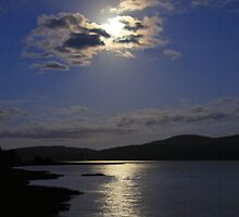 Full Moon Rising - Tamar River, Tasmania by Ruth Durose