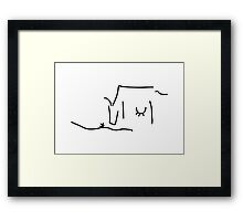 cow on pasture with udder and grass Framed Print