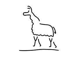 llama alpaca by lineamentum