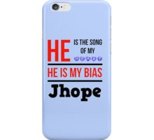 HE IS MY BIAS LIGHT BLUE - JHOPE iPhone Case/Skin