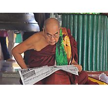 Buddhist Monk Photographic Print