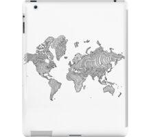 Illustrated World Map iPad Case/Skin