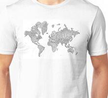 Illustrated World Map Unisex T-Shirt