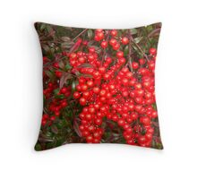 red berry bush Throw Pillow