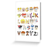 Child of the 90s Alphabet Greeting Card