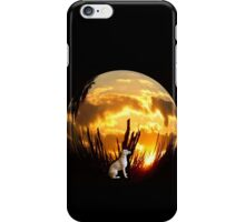 Puppy Circle Sunset iPhone Case/Skin
