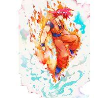 Super Saiyan God Goku by Over100ninjas